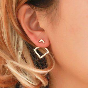 "NEW ""Square One"" Minimalist Geometric Chic Earring"